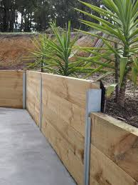wood retaining wall design engineering