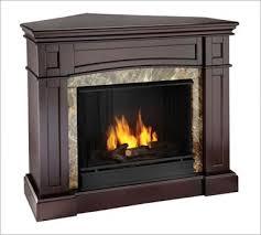 small corner wood fireplace