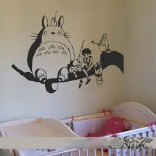 Buy Battoo Totoro And Friends Vinyl Wall Art Decal Nursery Wall Sticker Chibi Totoro Wall Decal 28 Quot H X44 Quot W Black In Cheap Price On M Alibaba Com