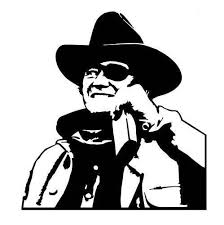 For John Wayne 4 Sticker Vinyl Decal Rooster Cogburn Various Sizes Car Stickers Aliexpress