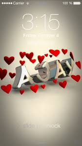 preview of in love for name ajay