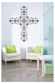 Fancy Cross Wall Decal Save Today On All Fancy Cross Wall Crosses Home Decor Wall Decals