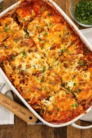 baked spaghetti cerole easy to make