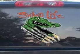 Florida Gator Swamp Life Growling Gator Vinyl Decal Gator Mania