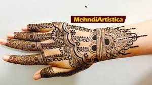 simple mehndi designs for bridal collection