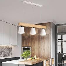 nordic simple wood pendant lights led