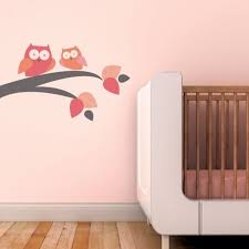 Mommy And Baby Owl Fabric Decals Pink Wall Sticker Outlet Baby Wall Stickers Kids Wall Decals Nursery Wall Decals