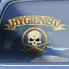 Dental Hygienist Crossbones Decal Oral Hygiene Dental Care Skull Badge Sticker Ebay