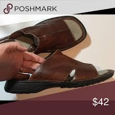 born men s leather slide sandals born