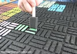paint a recycled rubber outdoor mat