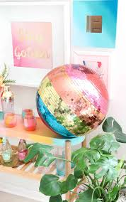 Make Your Own Rainbow Disco Ball A Beautiful Mess