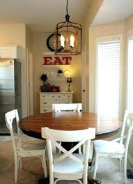 hanging lights over dining table