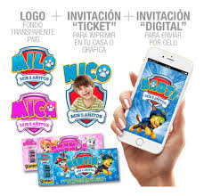 Tarjetas Infantiles Invitaciones Ticket Coco Disney Cumple 506