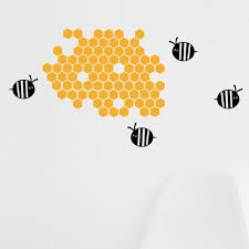 Bumble Bee And Honeycomb Small Vinyl Wall Decal Pepper Decals On Madeit