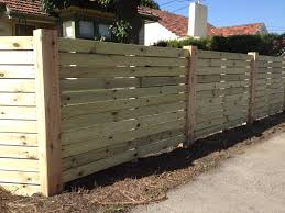 Horizontal Treated Pine Decking With Exposed Posts Top Class Fencing And Gates