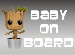 Amazon Com Groot Baby On Board Guardians Of The Galaxy Vinyl Vehicle Graphics Kids Window Sticker Decal Kitchen Dining