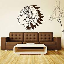 Indian Head Vinyl Wall Decal Vinyl Decor Wall Decal Customvinyldecor Com