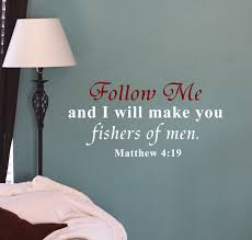 Mathew 4 19 Wall Decal Trading Phrases