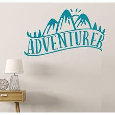 Camper Wall Art Adventurer Decor Stickers Decal Hiking Travel Quotes 33x20 Inch Teal Walmart Com Walmart Com