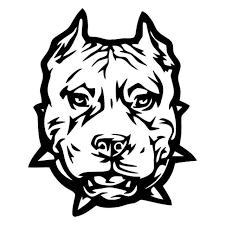 B1050 Pit Bull Tribal Pitbull Decal Sticker For Car Truck Suv Or Laptop Dog Art