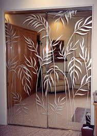 etched glass mirrors ferns mirror