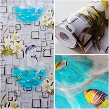 jual grosir murah sticker dinding roll dolphin bunga