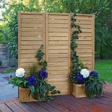 Yardistry 5 X 5 Wood Privacy Screen Ym11703 The Home Depot Privacy Screen Outdoor Outdoor Privacy Privacy Screen
