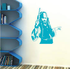 Captain Jack Sparrow Smashed 3d Wall Decal Sticker Decor Vinyl Pirates Caribbean