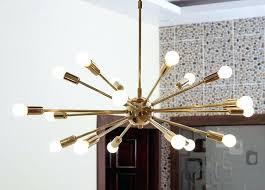 black and gold sputnik chandelier rose