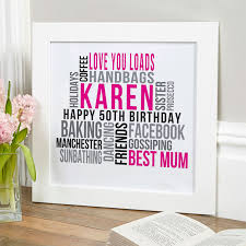 personalized 50th birthday gifts of