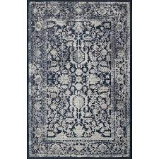 8 x 11 large indigo blue rug everly