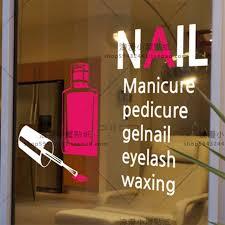 Nail Salon Sticker Make Up Spa Art Decal Beauty Posters Vinyl Wall Decals Decor Mural Nail Beauty Salon Glass Decal Wall Stickers Aliexpress