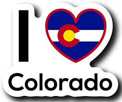 Amazon Com Love Colorado State Decal Sticker Home Pride Travel Car Truck Van Bumper Window Laptop Cup Wall One 5 Inch Decal Mks0006 Automotive