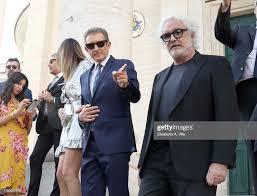Ezio Greggio, Romina Pierdomenico and Flavio Briatore attend the... News  Photo - Getty Images
