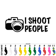 I Shoot People Photographer Car Sticker Window Decal Glass Laptop Wall Van Door Black Vinyl Decal Decor Gift 17 9cmx6 0cm Black Vinyl Car Stickers Windowvinyl Decal Aliexpress