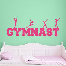 Gymnastics Decal Gymnastics Wall Sticker Wall Decal World