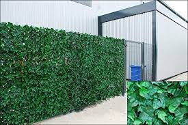 Ivy Artificial Screening Leaf Hedge Panels On Roll Privacy Garden Fence Green 1 0m X 3m Amazon Co Uk Garden Outdoors