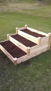 Greenes Fence 4 Ft X 4 Ft X 21 In 3 Tiered Cedar Raised Garden Bed Rc4t3 At The Home De Garden Boxes Raised Vegetable Garden Raised Beds Cedar Raised Garden