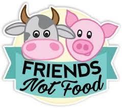 Amazon Com Friends Not Food Sticker Cow Pig Cruelty Free Vegan Decal By Megan J Designs Laptop Sticker Tumbler Car Decal Vinyl Sticker Automotive