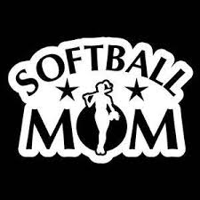 Softball Mom A3 Vinyl Decal Stickers Sticker Flare Llc