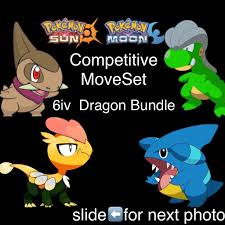 Perfect 6iv Shines Jangmo o-Axew-Gible-Bagon - 3DS Games - Gameflip