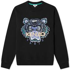Kenzo Actua Tiger Crew Sweat Black