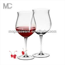 tulip shaped long stem wine glass