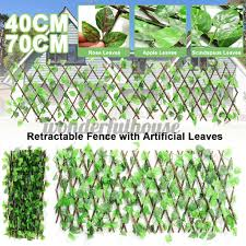 40 70cm Artificial Leaf Decorative Fence Screen Uv Protected Privacy Screen Retractable Fence With Artificial Leaf Garden Fence Backyard Home Decor Greenery Wall Shopee Malaysia