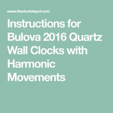 bulova harmonic chiming wall clock