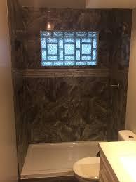 glass block bathroom shower windows