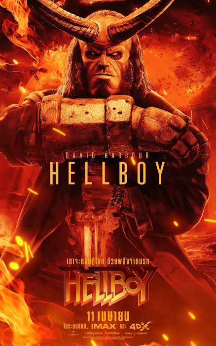 Image result for hellboy movie poster""