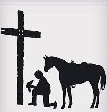 Praying Cowboy Sticker 5 1 2 X5 St 038 Wild West Living
