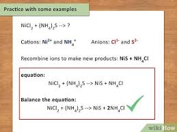 how to write a chemical equation with