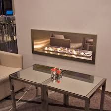 double sided gas fireplace lava fires